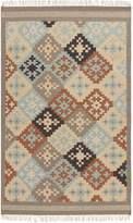 "Surya Jewel Tone II JTII-2049 Transitional Hand Woven 100% Hard Twist Wool Slate Gray 3'6\"" x 5'6\"" Southwest Area Rug"