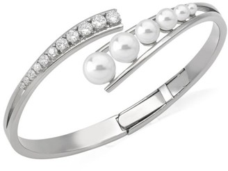 Majorica 3-8MM Organic White Pearl Bangle