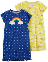Carter's Short Sleeve Nightgown-Toddler Girls