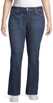 Arizona Juniors Plus Womens Low Rise Skinny Fit Bootcut Jean