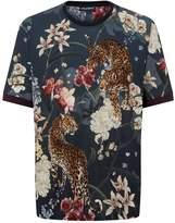 Dolce & Gabbana Floral Leopard Print T-Shirt