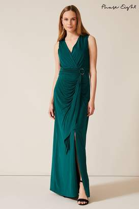 Phase Eight Womens Green Caylee Drape Maxi Dress - Green