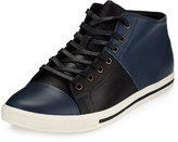 Joe's Jeans Riper Leather High-Top Sneaker, Navy