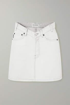 Balenciaga Denim Mini Skirt - Gray