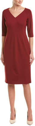 Lafayette 148 New York V-Neck Shift Dress