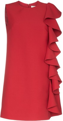 Valentino ruffle-trimmed A-line mini dress