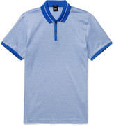 Hugo Boss - Slim-fit Striped Cotton-jersey Polo Shirt