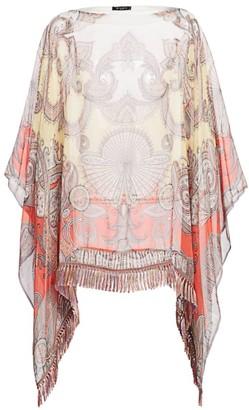 Etro Sunset Fan Paisley Silk Poncho