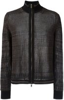 Maison Margiela sheer knitted zipped cardigan - men - Cotton/Polyester - S
