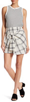 LoveRiche Check Wrap Knot Skirt