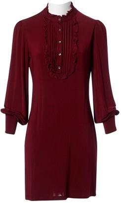 Galliano \N Burgundy Dress for Women