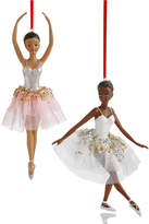 Holiday Lane Set of 2 Ballerina Ornaments, Created for Macy's