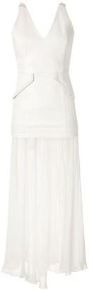Andrea Bogosian Pink Reveillon leather dress