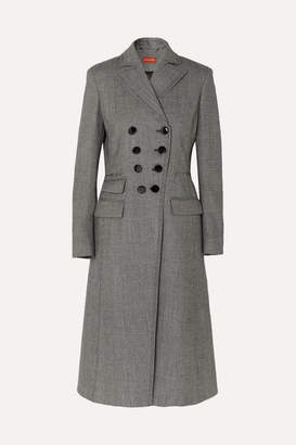Altuzarra Janine Prince Of Wales Checked Wool-blend Coat - Gray
