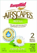 DampRid AS20FS Airscapes Dehumidifier Refill Pouches, Fresh Scent, 2-Pack