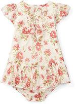 Ralph Lauren Ruffled Floral Dress & Bloomer