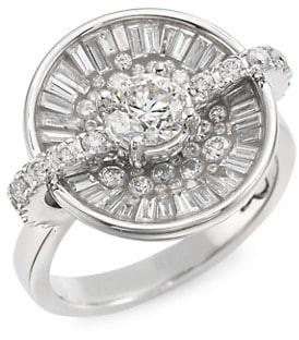 Plevé Opus Ice Diamond & 18K White Gold Round Ring