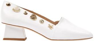 REJINA PYO White Leather Mules & Clogs