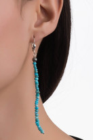 Relios Sterling Silver Dangling Stacked Turquoise Earrings