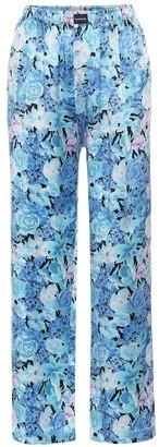 Balenciaga Floral wide-leg silk pants