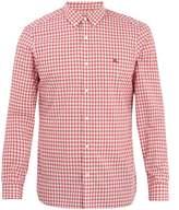 Burberry Button-down collar gingham cotton shirt
