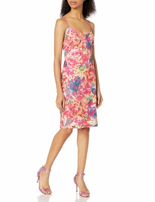 Laundry by Shelli Segal Women's Printed Burno Out Sequin Cocktail