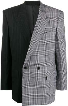 Juun.J contrast double-breasted blazer