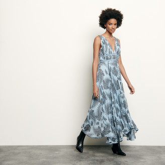 Sandro Long dress in printed chiffon