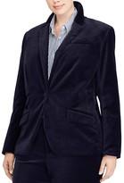 Lauren Ralph Lauren Plus Velvet Blazer - 100% Exclusive