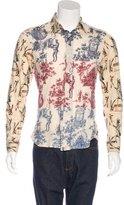 John Galliano Cashmere-Blend Printed Shirt