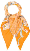 Hermes Neige d'Antan Cashmere Silk Scarf