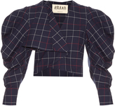 Awake Preppy plaid cotton-blend jacket