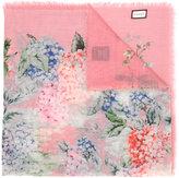 Gucci Hydrangea print scarf - women - Silk/Cashmere - One Size