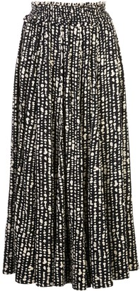 Proenza Schouler White Label Abstract Print Pleated Skirt