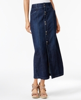 Style&Co. Style & Co Style & Co Petite Button-Front Denim Maxi Skirt, Created for Macy's