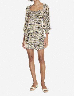 Faithfull The Brand Ira animal-print woven mini dress