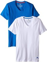 Tommy Bahama Men's 2 Pack Stretch Cotton Comfort Solid V-Neck T-Shirt