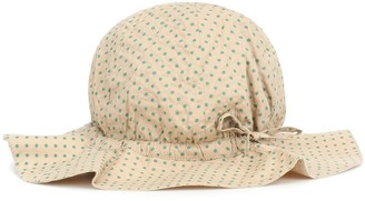 Caramel Chiswick polka-dot cotton hat