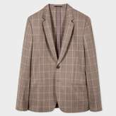 Paul Smith A Suit To Travel In - Tailored-Fit Taupe Windowpane Check Blazer