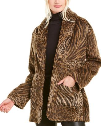 The Kooples Tiger Leo Wool Coat