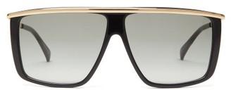 Givenchy Metallic-topbar Square Acetate Sunglasses - Black