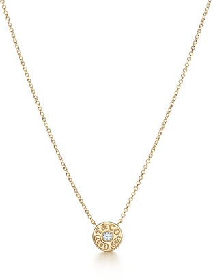 Tiffany & Co. 1837TM circle pendant in 18k gold with diamonds