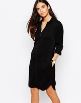 Warehouse Concealed Zip Shirt Dress