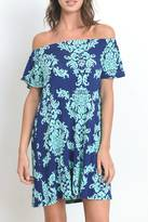 Gilli Damask Off Shoulder Dress