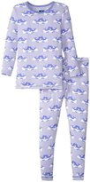 Kickee Pants Print Pajama Set (Toddler/Kid) - Lilac Seals - 2T