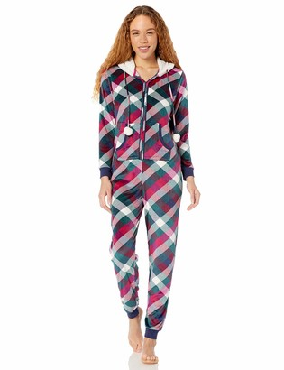 Mae Women's Mircrofleece Hooded Onesie Pajama