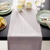 "Crate & Barrel Helena Lilac Purple Linen 90"" Table Runner"