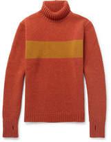 Oliver Spencer Talbot Slim-Fit Striped Wool Rollneck Sweater