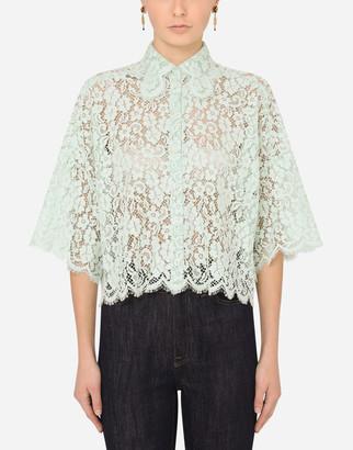 Dolce & Gabbana Short Lace Shirt
