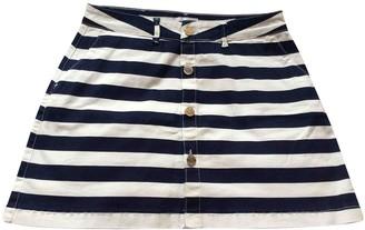 2nd Day Navy Cotton - elasthane Skirt for Women